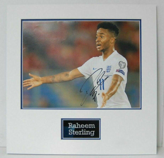 Raheem Sterling Signed 16X12 MOUNTED Photo England & Manchester City AFTAL COA