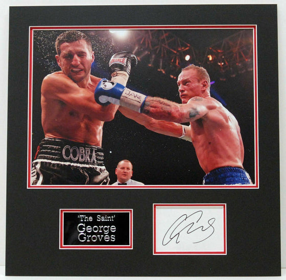 George Groves GENUINE HAND SIGNED PHOTO MOUNT DISPLAY (B)