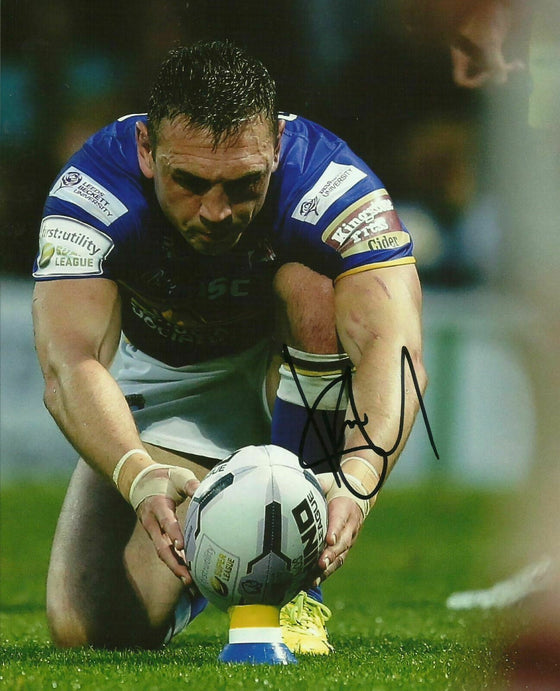 Kevin Sinfield SIGNED 10X8 Photo Leeds Rhinos Rugby AFTAL COA (2332)