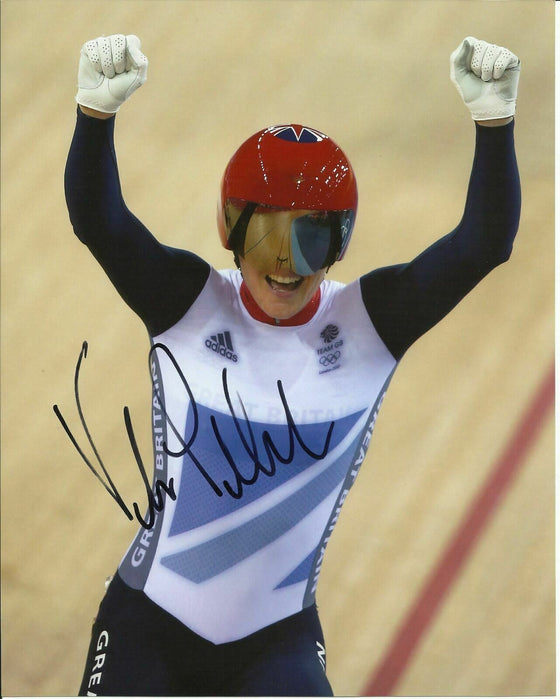 VICTORIA PENDLETON SIGNED 10X8 PHOTO LONDON 2012 OLYMPICS