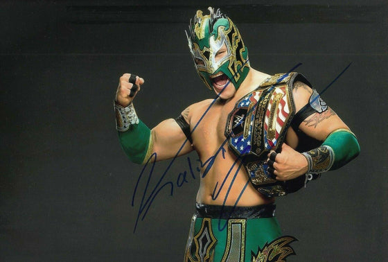 Kalisto Signed 12X8 Photo WWE UFC WWF AFTAL COA (7148)