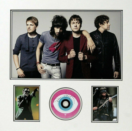 Tom Meighan & Sergio Pizzorno Signed & Mounted CD KASABIAN AFTAL COA (C)