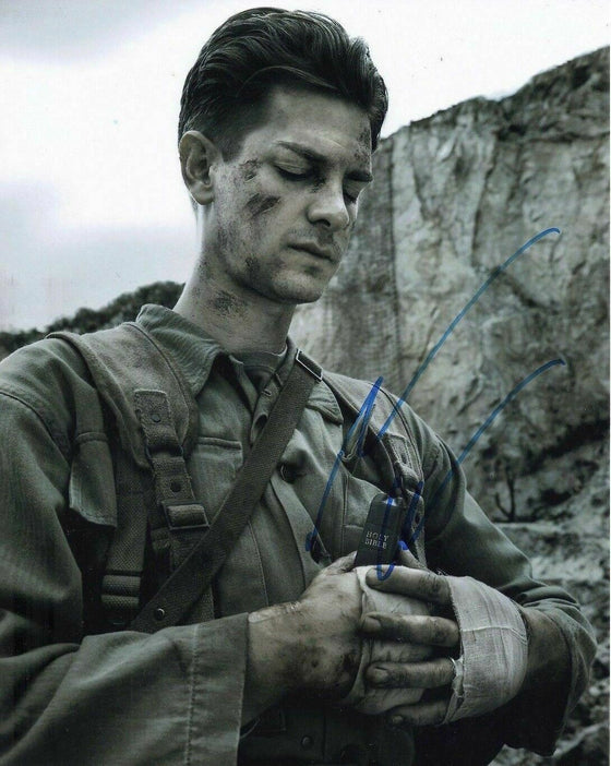 Andrew Garfield Signed 10X8 Photo Genuine Hacksaw Ridge AFTAL COA (7298)
