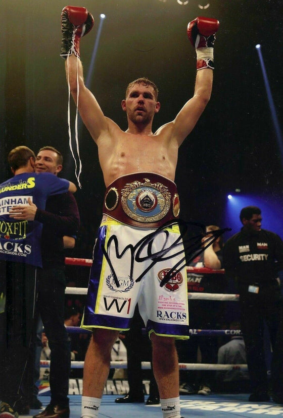 Billy Joe Saunders SIGNED 12X8 Photo World Champion Genuine Autograph AFTAL COA