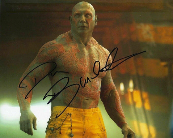 Dave Bautista Signed 10X8 Photo Genuine GUARDIANS OF THE GALAXY AFTAL COA (7356)