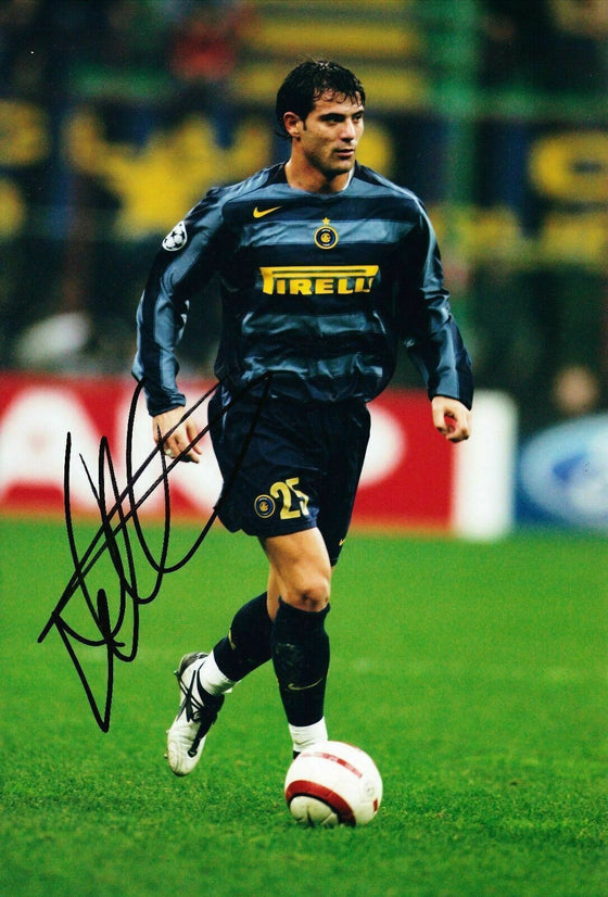 Dejan Stankovic SIGNED 12X8 PHOTO Lazio & Serbia COA (9035)