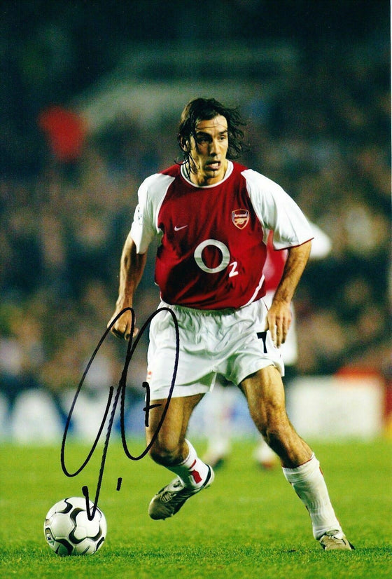 Robert Pires Signed 12X8 Photo Arsenal Genuine AFTAL COA (9046)