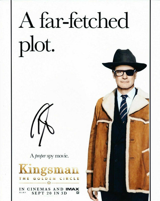 Colin Firth Signed 10X8 PHOTO Kingsman: The Golden Circle AFTAL COA (5247)