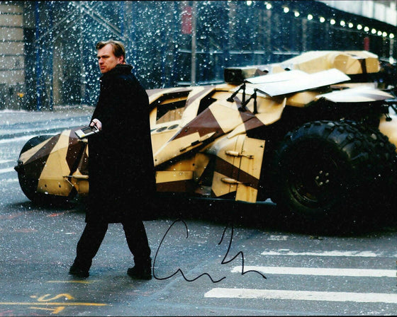 Christopher Nolan Signed 10X8 Photo THE DARK KNIGHT RISES ICONIC DIRECTOR (5584)