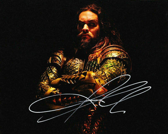 JASON MOMOA Authentic Hand-Signed JUSTICE LEAGUE AQUAMAN 8x10 Photo AFTAL (7241)