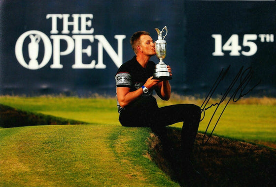 Henrik Stenson Signed 12X8 Photo GENUINE Autograph AFTAL COA (3114)
