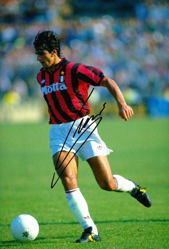 Gianluigi Lentini SIGNED 12X8 Photo AC Milan AFTAL COA (1756)