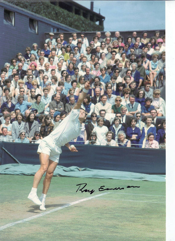 Roy Emerson Signed 12X8 Photo Genuine Autograph Wimbledon AFTAL COA (A)