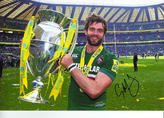 Geoff Parling Genuine Hand Signed 10X8 Photo Leicester & England (2109)