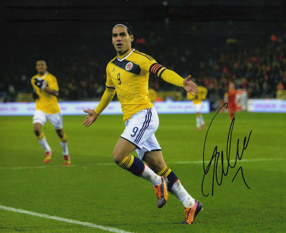 Radamel Falcao Genuine Hand Signed Columbia 10X8 PHOTO CHELSEA F.C COA (A)