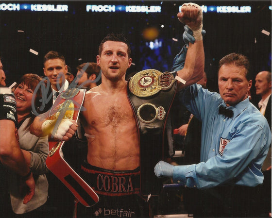 Carl Froch SIGNED 10X8 Photo World Champion AFTAL COA (A)