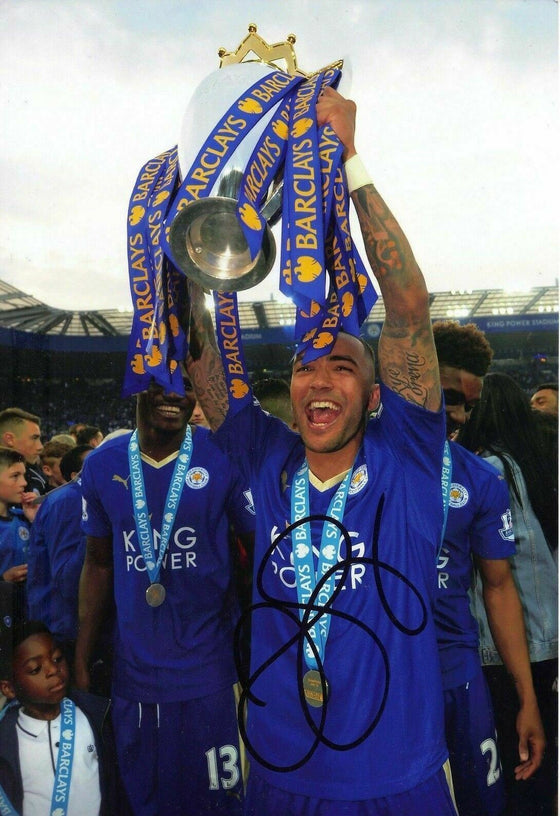 Danny Simpson Signed 12X8 Photo Leicester City F.C. Genuine COA AFTAL (1947)