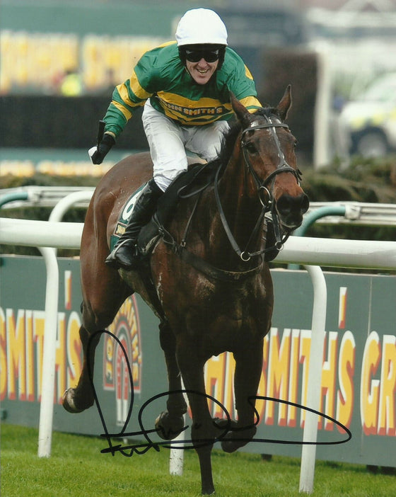 AP McCoy Genuine Hand Signed 10X8 Photo Autograph Grand National Winner COA (B)