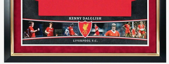 Kenny Dalglish Signed & Framed Shirt Liverpool FC Genuine Autograph AFTAL COA