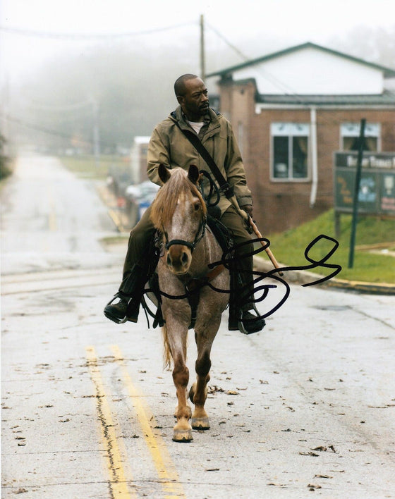 Lennie James Signed 10X8 Photo Walking Dead AFTAL COA (7430)