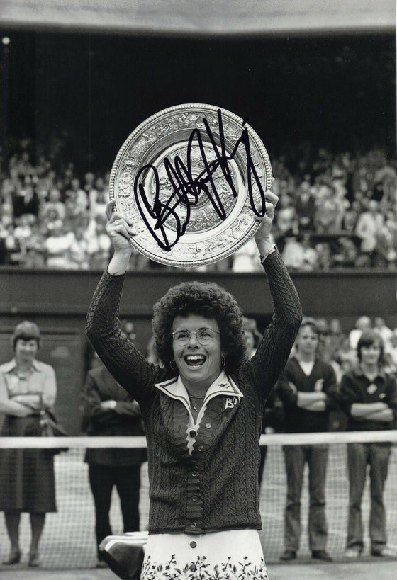 Billie Jean King Signed 12X8 Photo Wimbledon Genuine Signature AFTAL COA (L)