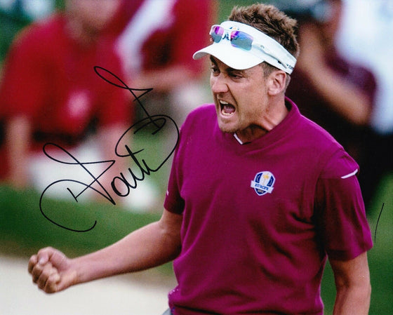 Ian Poulter Signed 10X8 Photo Ryder Cup Legend AFTAL COA (3060)