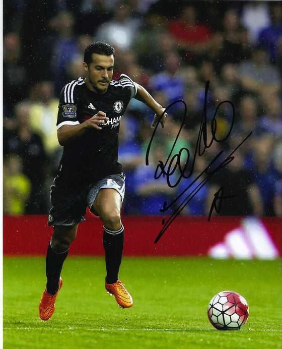 Pedro Signed 10X8 Photo Chelsea F.C. GENUINE Autograph AFTAL COA (1302)