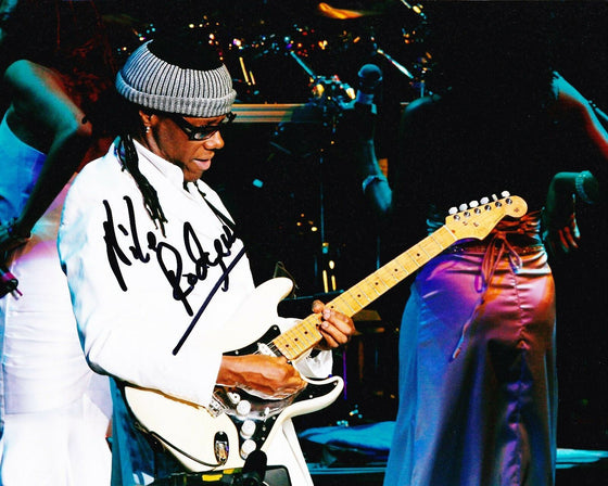 Nile Rodgers SIGNED 10X8 Photo AFTAL COA (A1)
