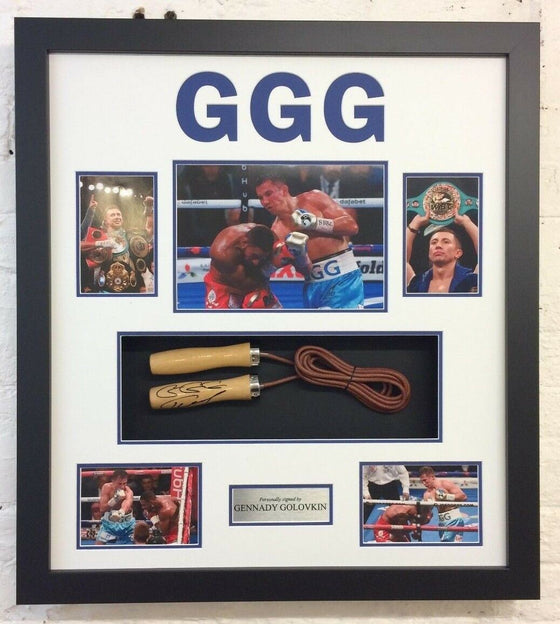 Gennady Golovkin GGG FRAMED Genuine Signed Skipping Rope Autograph AFTAL COA