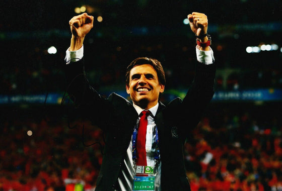 Chris Coleman Signed 12X8 Photo WALES EUROS 2016 AFTAL COA (1764)