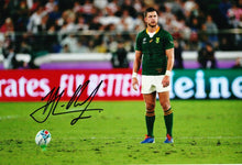 Handre Pollard Signed 12X8 Photo 2019 Rugby World Cup South Africa AFTAL COA (B)