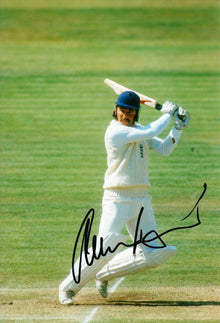 Allan Lamb Signed 12X8 Photo England Cricket Legend AFTAL COA (2623)