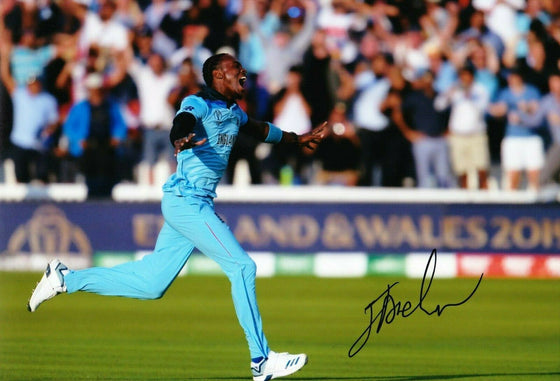 Jofra Archer Signed 12X8 Photo 2019 England CRICKET World Cup AFTAL COA (2661)
