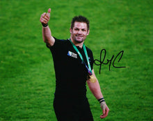 Richie McCAW Signed 10X8 Photo ALL BLACKS 2015 RUGBY WORLD CUP AFTAL COA (2386)