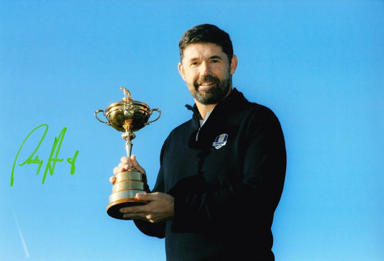 Padraig Harrington Signed 12X8 Photo Ryder CUP Captain 2020 AFTAL COA (A)