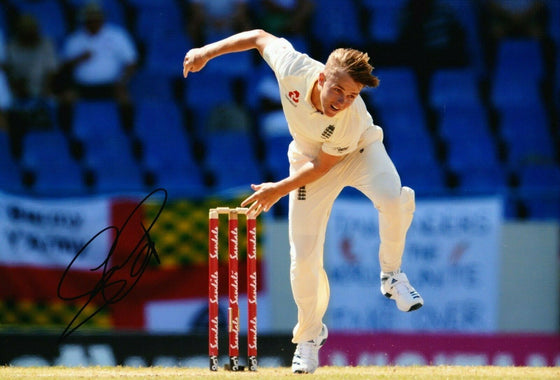 Sam Curran Signed 12X8 Photo England CRICKET Ashes AFTAL COA (2654)