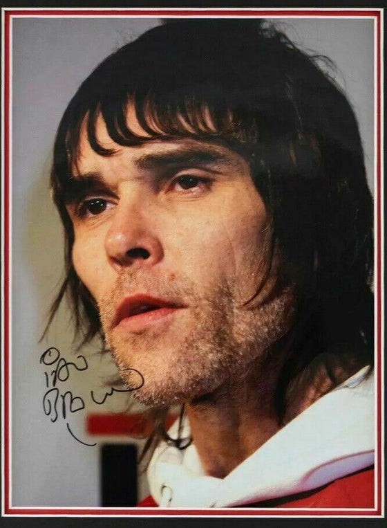 Ian Brown Signed & Framed 16X12 Photo The Stone Roses (A)