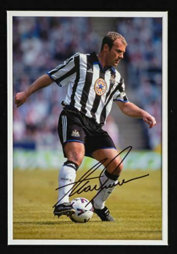 Alan Shearer Signed & Framed 12X8 Photo Newcastle United F.C. Genuine AFTAL COA