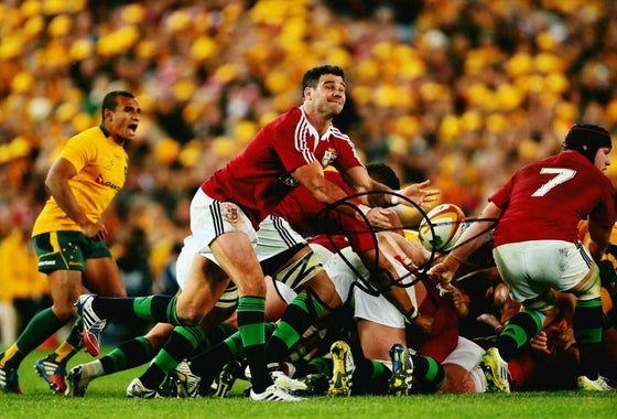 Mike Phillips Signed 12X8 Photo Lions & WALES Rugby AFTAL COA (2218)