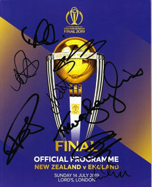 England 2019 World Cup FINAL Programme CRICKET SIGNED By 8 Players AFTAL COA (C)