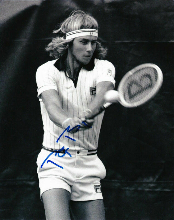 Bjorn Borg Signed 10X8 Photo Genuine Autograph Wimbledon AFTAL COA (B)