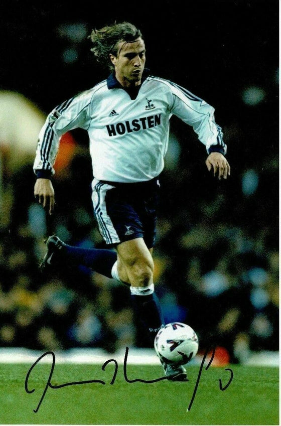 David Ginola SIGNED 12X8 Photo AUTOGRAPH Tottenham Hotspur AFTAL COA (1450)