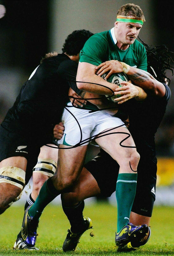 Jamie Heaslip Signed 12X8 Photo Lions Leinster & Ireland Rugby AFTAL COA (2161)