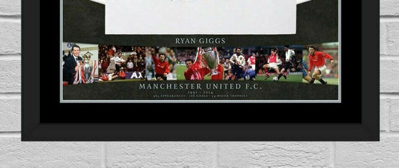 Ryan Giggs Signed & FRAMED Manchester United Jersey AFTAL COA (FTO)