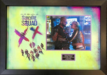 Margot ROBBIE & Will SMITH Suicide Squad Signed Photo MOUNT DISPLAY AFTAL COA