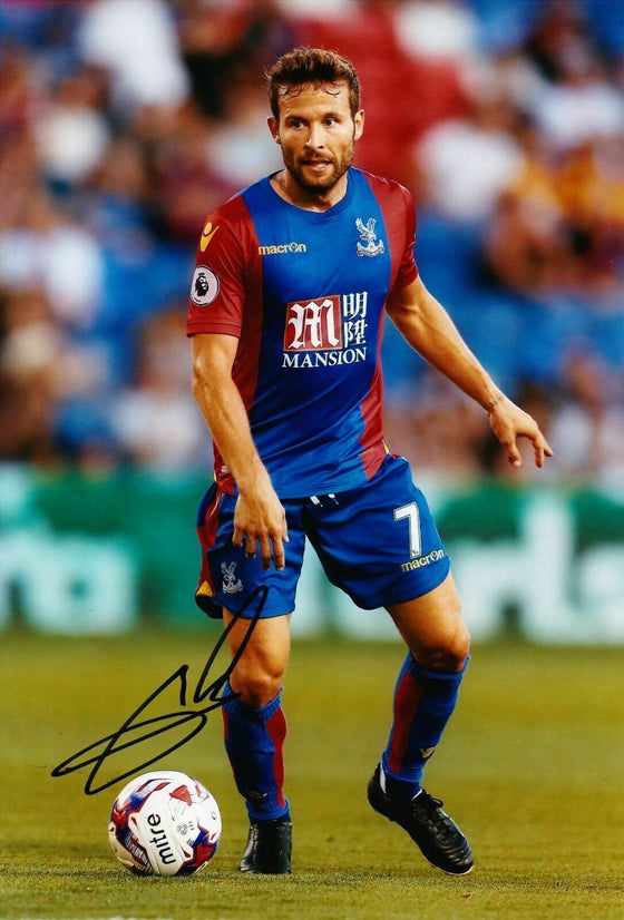 Yohan Cabaye Signed 12X8 Photo France CRYSTAL PALACE Signature AFTAL COA (1716)