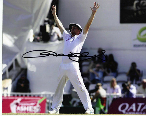 "Andrew ""Freddie"" Flintoff  Signed 10X8 Photo *Full Signature* AFTAL COA (2509)"