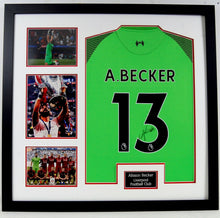 Alisson Becker Signed & Framed Shirt Liverpool FC Genuine Autograph AFTAL COA (B