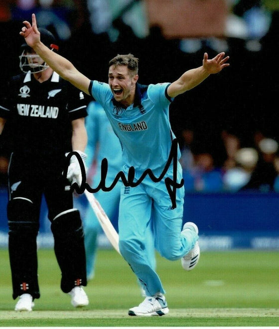 Chris Woakes Signed 10X8 Photo 2019 England CRICKET World Cup AFTAL COA (A)