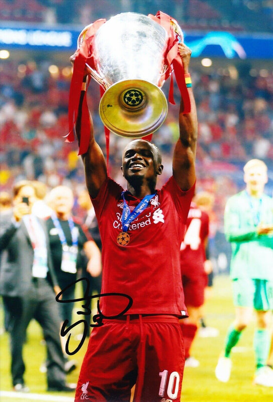 Sadio Mane Signed 12X8 Photo Liverpool F.C. Genuine AFTAL COA (1494)